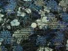 水彩花柄 ブラック
